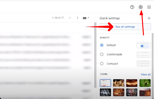 gmail setting icon for aol mail
